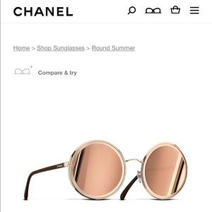Chanel round summer glasses